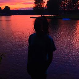 pcfaceless faceless silhouette sky sunset