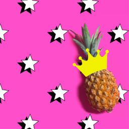 irckingoffruits kingoffruits freetoedit pineapple stars