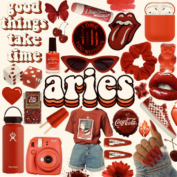 aries zodiac zodiacsign red