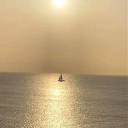 freetoedit notmypic thegoldenhour ocean sailboat