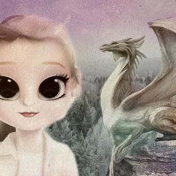 freetoedit dollifyedit dragon girl pale