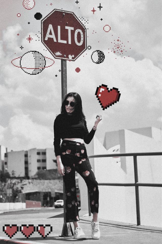 #freetoedit #heart #pixel #noise #effect #followme