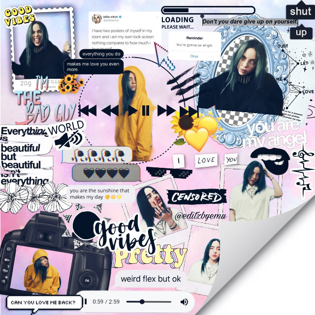 open🔓   @white_shadow79 #1kofshadows   who: billie eilish👑  what: complex edit☀️  when: august 8🌻  where: bad guy music video🐝  why: for a contest🍋    tag list💕  @wolfhardxangel  @daydreamxchely  @-imcallaherron  @riverdaleorg   comment 🍓to be added to the tag list comment🐬to be removed   hashtags:  #freetoedit #billieeilish #notfreetosteal #badguy #complexedit