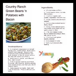 freetoedit potato greenbeans bacon food