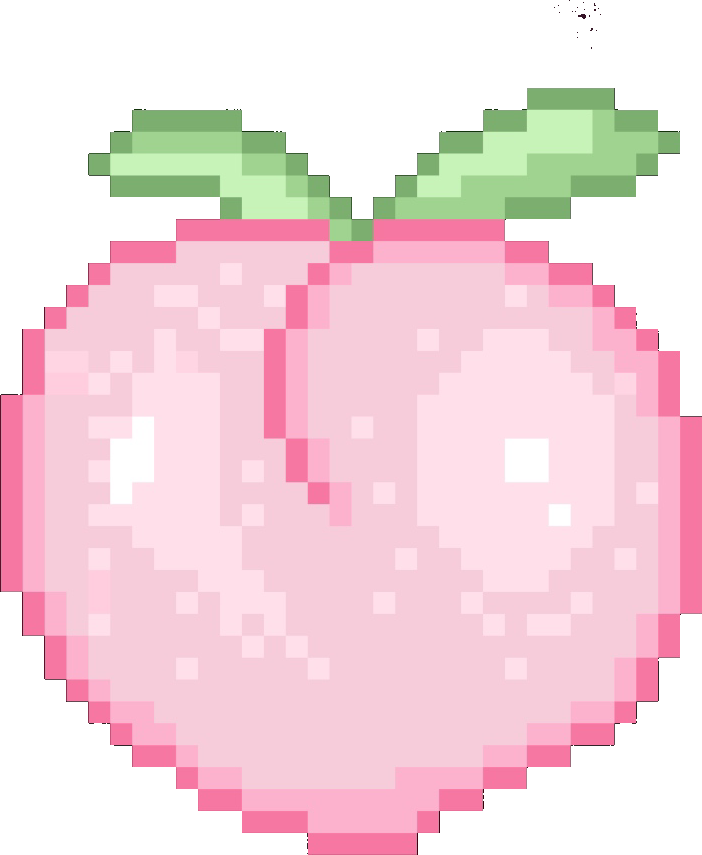 Pixel Pixelart Pink Peach Pitu Soft Sticker Freetoedit