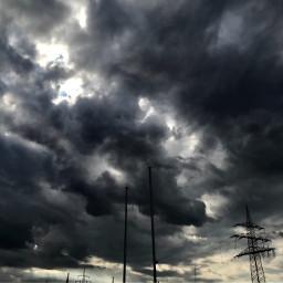 freetoedit darkclouds dunklewolken wolken clouds
