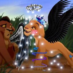 lionking2 kiara girlpower kovu kiaratheangel freetoedit