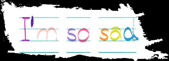 imsosad kidcore paper rainbow handwriting freetoedit