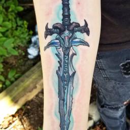 frostmourne sword tattoo worldofwarcraft lichking freetoedit