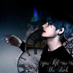 dark aesthetic bts btstaehyung btsedit freetoedit