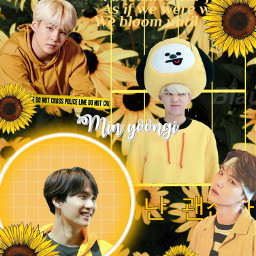 minyoongi suga yellow sunflower bts freetoedit