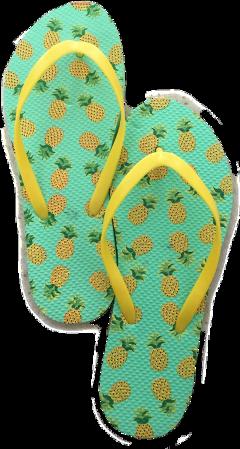summer flipflops pineapple beach freetoedit
