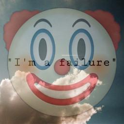 unsplash freetoedit clownemoji failure sky