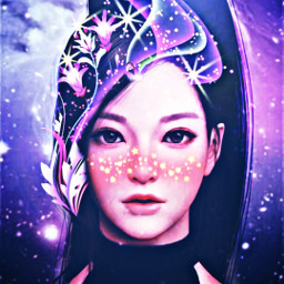 freetoedit moon crescent girl butterfly srcblush
