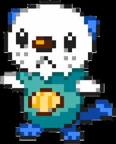 oshawott pokemon water type pixel freetoedit