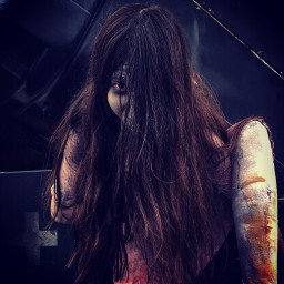 girl longhairdontcare horror cosplay creepy freetoedit