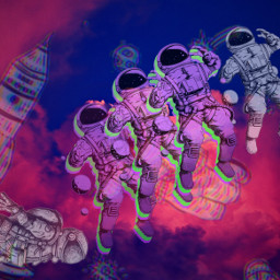 ecintheclouds intheclouds astronaut freetoedit