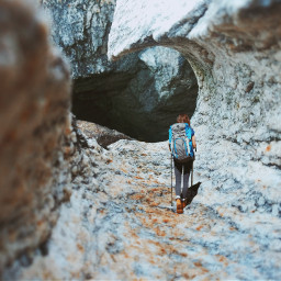 mountain cave explorer hiking myphoto freetoedit