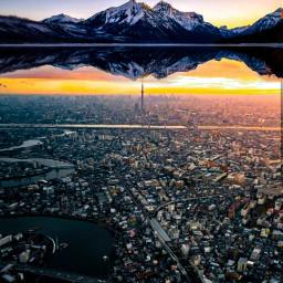 freetoedit remixit dero_d mountain city