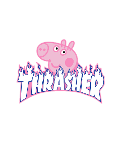 trasher pink aestheticpink meme peppapig freetoedit