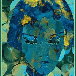 freetoedit clover blueface bleu eyesclosed