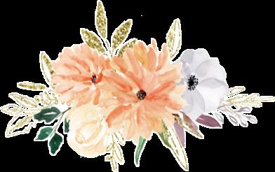 #watercolor #flowers #floral #bouquet #arrangement #blush #grey #pastel #peach #gold #glitter #png