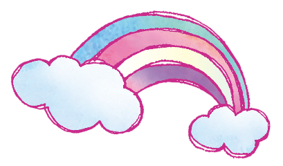 rainbow glitter handpainted sky colorful freetoedit