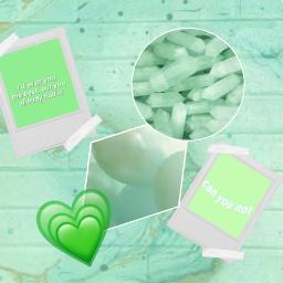 freetoedit lightgreen teal messedup poloroids