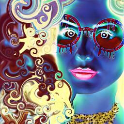 freetoedit grimeglasses glasses woman negativeeffect srcgrimeglasses