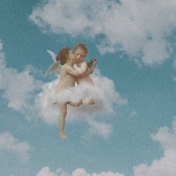 ecintheclouds intheclouds angels clouds cupido freetoedit