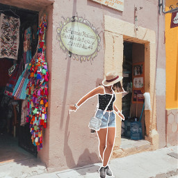 travel roadtrip art colorful pueblomagico