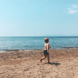freetoedit sea child summer august