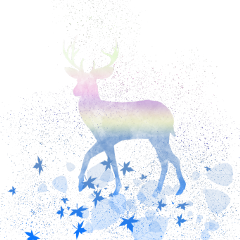 ftestickers fantasyart deer holographic aesthetic freetoedit
