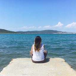 summer sea freetoedit people landscape