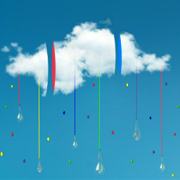 freetoedit ecintheclouds intheclouds cloud rainbow