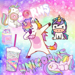 freetoedit unicorn rainbow