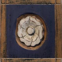 tile artwork wood frame flower
