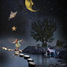 freetoedit samemoonsamestar myedit fantasy art