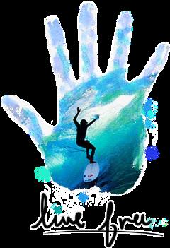 surfboarder handprint freetoedit