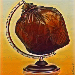 earth plastic trash sadness freetoedit