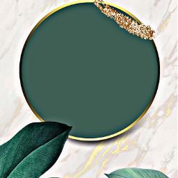 freetoedit green gold frame background