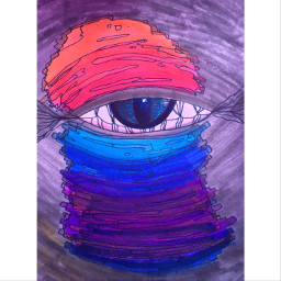 interesting art colorful chaos myart