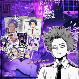 freetoedit hitoshishinso myheroacademia purpleaesthetic