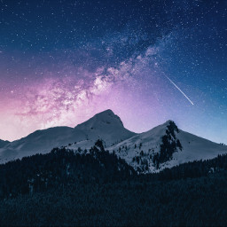 galaxy nature mountains background backgrounds freetoedit