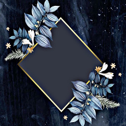 freetoedit blue navy gold leaves