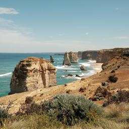 nature landscape beach background backgrounds freetoedit