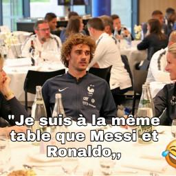 messi ronaldo. griezmann football france freetoedit