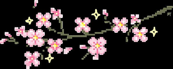 kawaii cute pink pixel cherryblossoms freetoedit