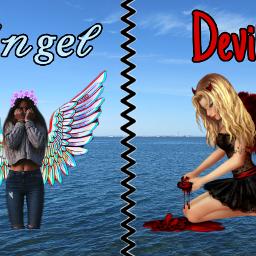 freetoedit angel devil