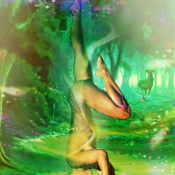 forest nymph multipleeffects overlays freetoedit